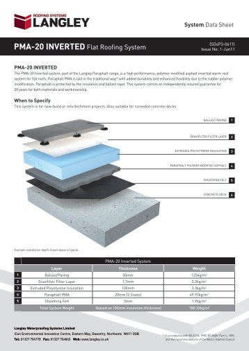PMA-20 INVERTED Flat Roofing System - BD Online Product Search