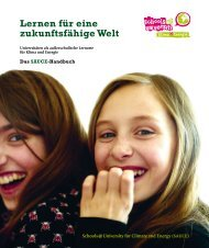 Das SAUCE-Handbuch - Schools at University for Climate and Energy