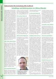 Schädlinge und Kultursysteme im (Klima-)Wandel - Gemüse online