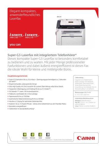 Elegant-kompaktes, anwenderfreundliches Laserfax