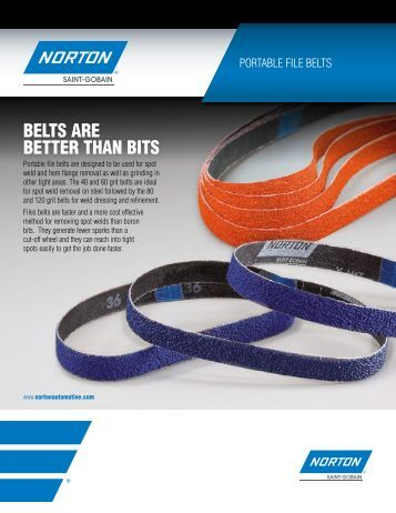 Portable File Belts - Norton