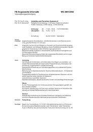 FB Angewandte Informatik WS 2001/2002 - Prof. Dr. Rudolf Berrendorf