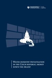 Water Industry Privatisation in the Czech Republic - Transparency ...