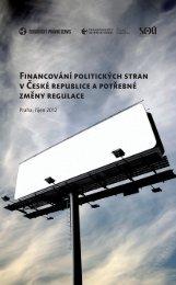 Financování politických stran v České republice a potřebné změny ...