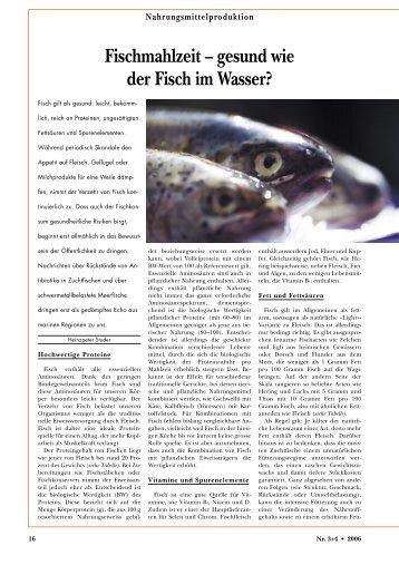 Fischmahlzeit – gesund wie der Fisch im Wasser? - Richtig-Essen