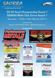 spencer gulf off road association - Off Road Racing - Australia