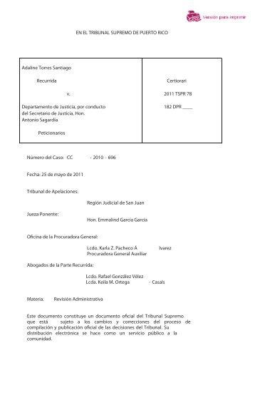 2011 TSPR 78 - Rama Judicial de Puerto Rico