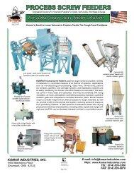 Process Screw Feeders - Komar Industries
