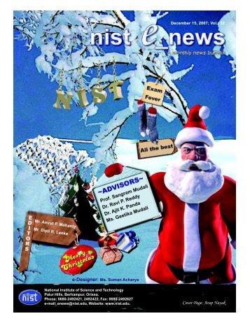 NIST e-NEWS(Vol 52, Dec 15, 2007)