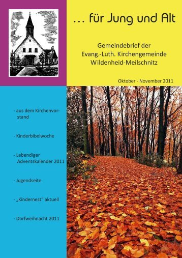Kinderbibelwoche - Kirchengemeinde Wildenheid-Meilschnitz
