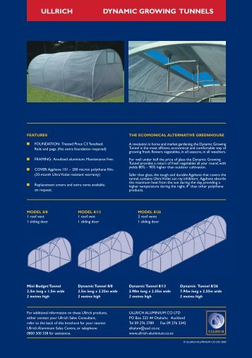 Dynamic Growing Tunnels, the economical ... - Ullrich Aluminium