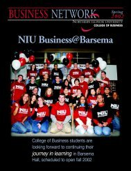 Spring 2002 Issue - NIU College of Business - Northern Illinois ...