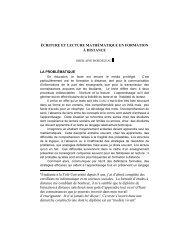 ÉCRITURE ET LECTURE MATHÉMATIQUE EN FORMATION À ...