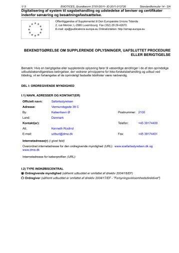 Digitalisering af system til sagsbehandling og ... - Søfartsstyrelsen