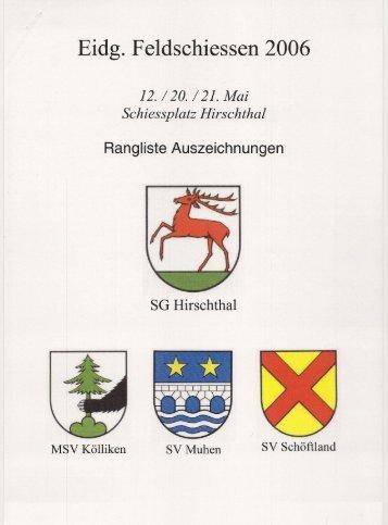 Ranglisten Schiessplatz 2 - Militärschiessverein Kölliken