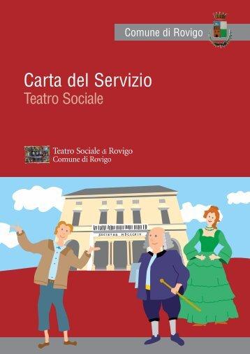 Carta Servizio Teatro Sociale - Comune di Rovigo