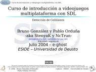 Curso de introducción a videojuegos multiplataforma con SDL