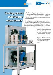 Cooling systems according to requirements