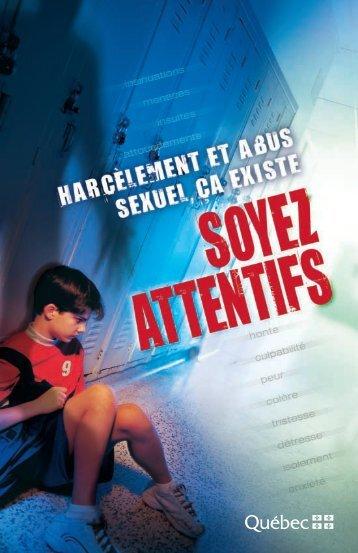Harcèlement et abus sexuel ça existe - Ministère de l'Éducation, du ...