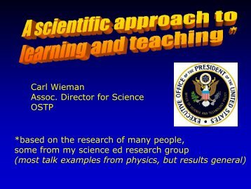 Dr. Carl Wieman's PowerPoint Slides - Teaching & Learning ...