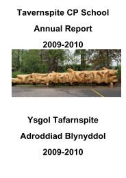 Tavernspite CP School Annual Report 2009-2010 Ysgol Tafarnspite ...