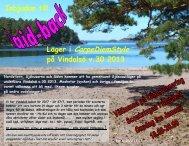Inbjudan till läger, laid-back 2013