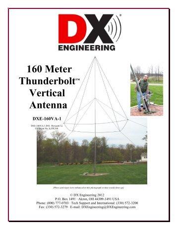 160 Meter Thunderbolt™ Vertical Antenna DXE ... - DX Engineering