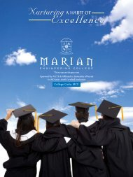Brochure - Marian Engineering College
