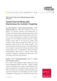 United Internet Media gibt Startschuss für mobiles Targeting