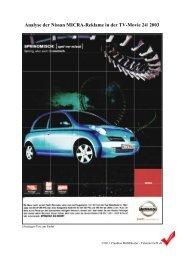 Analyse der Nissan MICRA-Reklame in der TV ... - Teleunterricht