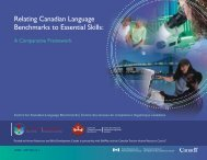 Relating Canadian Language Benchmarks to Essential Skills: