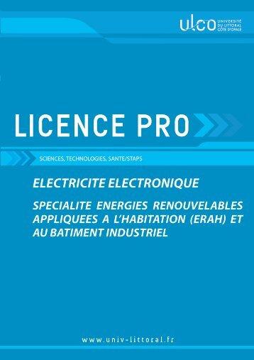 Plaquette de présentation de la licence - Université du Littoral Côte ...