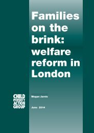 Families on the brink_welfare reform in London