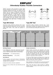 Emflex Rubber Bellows Expansion Joints - Interflex Hose & Bellows