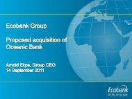 Proposed Acquisition of Oceanic Bank Investor ... - Ecobank