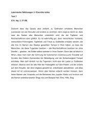 Lateinische Stilübungen 3 / Exercitia latina Text 7 (Cic. leg. 2, 27-28 ...