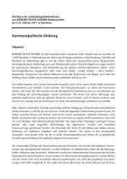Kommunalpolitische Erklärung - Grüne KV Friesland
