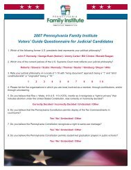 Guide Questionnaire for Judicial Candidates - Pennsylvania Family ...