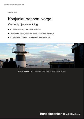 Konjunkturrapport Norge - Handelsbanken
