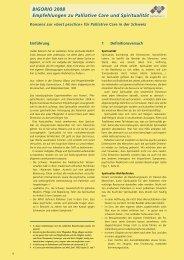 Palliative Care und Spiritualität - Palliative ch