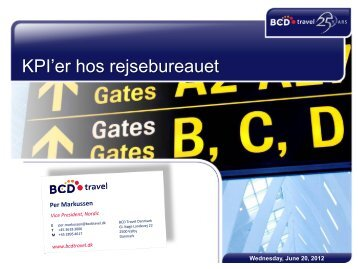 Per Markussen, BCD Travel - DBTA