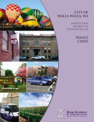 city of walla walla, wa police chief - Bob Murray & Associates
