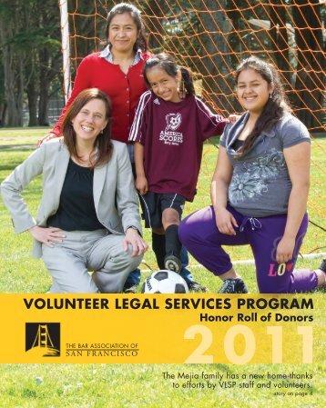 volunteer legal services program - The Bar Association of San ...