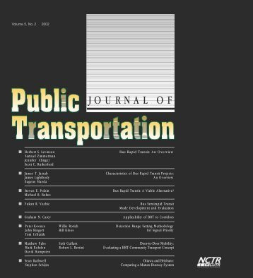 Journal of Public Transportation - Portland State University