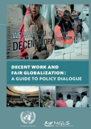 Decent Work and Fair Globalization : A Guide to Policy ... - NGLS