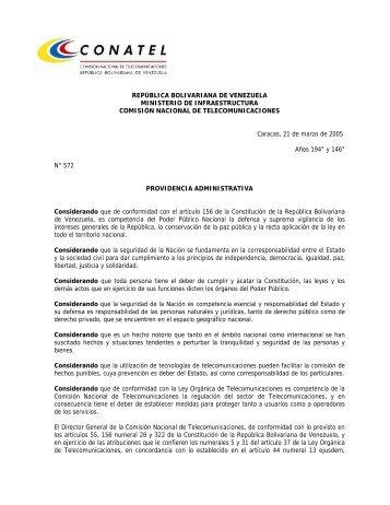 la Providencia Administrativa publicada el 1 de ... - Info Venezuela
