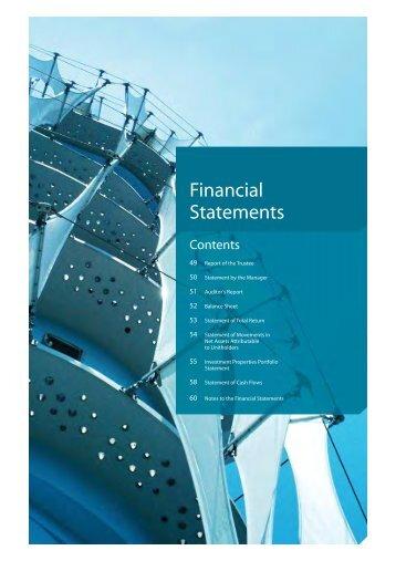 Financial Statements - Ascendas REIT