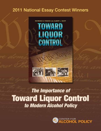 winning essays - Center for Alcohol Policy