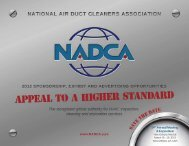 www.NADCA.com NAtioNAl Air DuCt CleANers AssoCiAtioN • 2013 ...