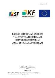 Esošās situācijas analīze Valsts stratēģiskajam ... - ES fondi